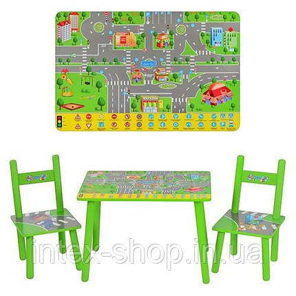 Дитячий столик M 2102 з двома стільчиками, фото 2