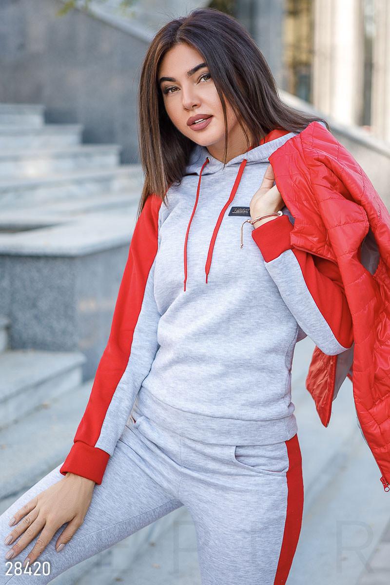 40d28796 Утепленный женский спортивный костюм тройка Gr 28420 Красный, ...