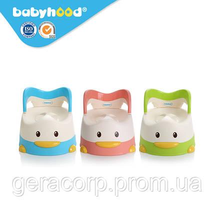 """Горшок детский Babyhood BH-114 """"Утенок"""" Зеленый, фото 2"""