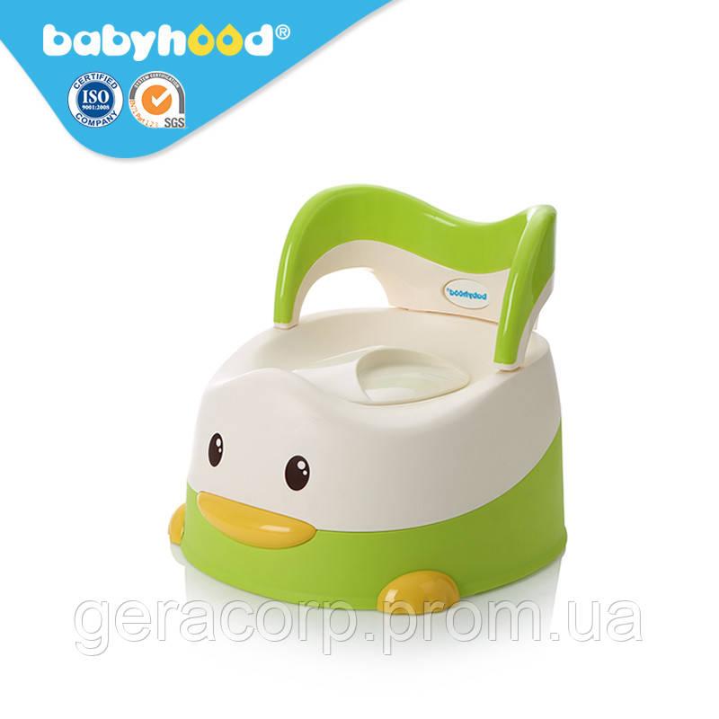 """Горшок детский Babyhood BH-114 """"Утенок"""" Зеленый"""