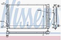 Радиатор охлаждения SKODA SUPERB 2001г.-2008г.(Nіssens)