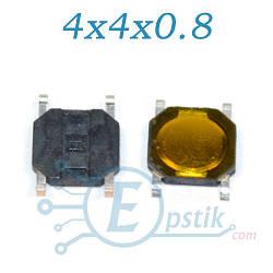Кнопка тактовая, 4x4x0.8мм., 4pin, SMD