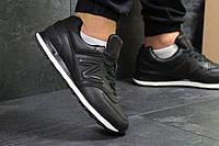 Мужские кроссовки New Balance 754 черные с коричневым (Реплика ААА+), фото 1