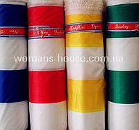 Палаточная ткань полоска Зеленый с белым