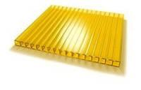 Сотовый желтый поликарбонат 8 мм Polynex