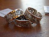 Серебряное кольцо с золотой пластинкой , фото 8