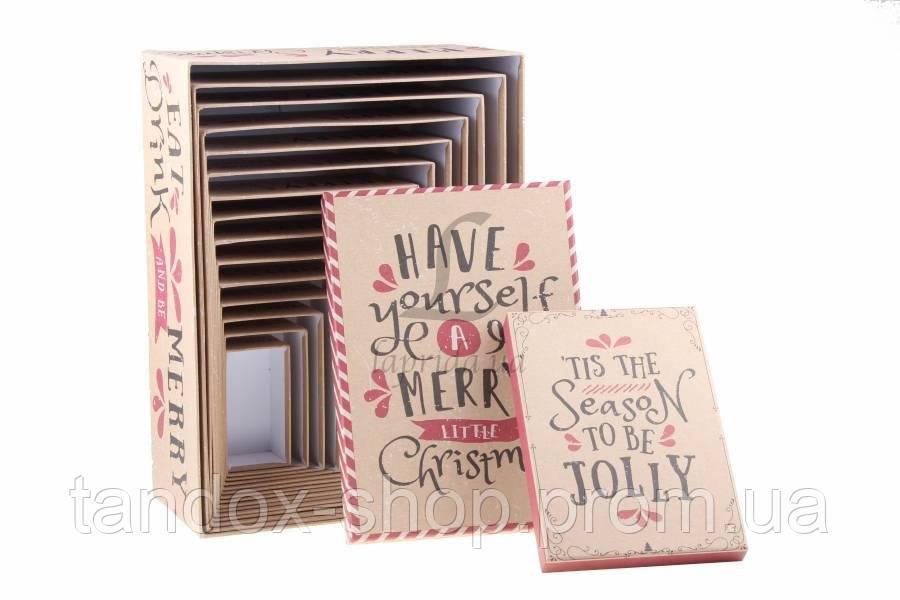 Новогодняя подарочная коробка 15 шт в комплекте
