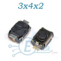 Кнопка тактовая, 3x4x2 мм., 2pin, TS-1286-2