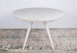 Круглый обеденный стол AUSTIN (Остин) 110/145 матовое стекло капучино Nicolas (бесплатная адресная доставка), фото 6