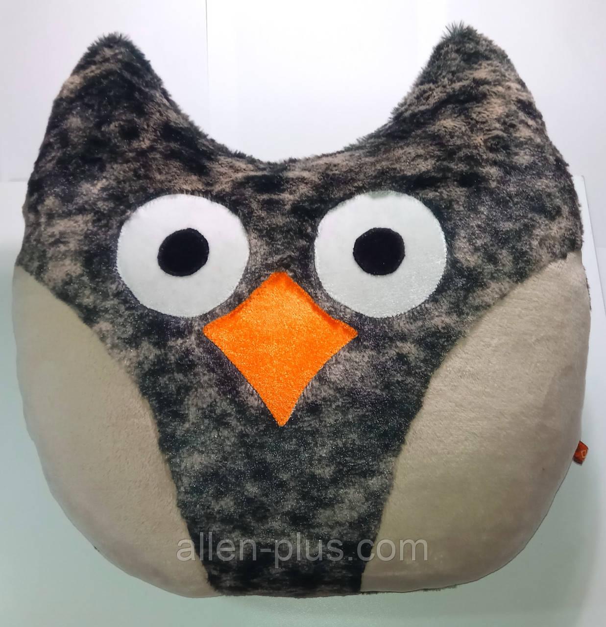 Мягкая игрушка-подушка ручной работы Сова
