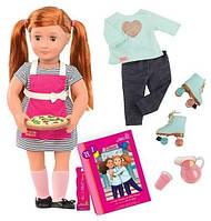 Набор Our Generation Deluxe Кукла Ноа готовит обед с книгой (BD31092ATZ)