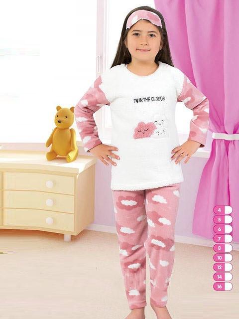 Детская махровая (флисовая) пижама для девочки — купить недорого в ... 7b2a787687c07
