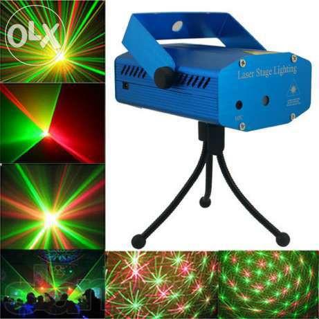 Лазерный проектор Mini Laser Stage YX-039 - цветомузыка, фото 1