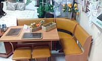 Кухонный уголок с простым столом Маркиз