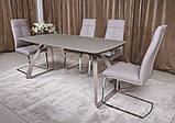 Розкладний стіл LONDON 160/240*90 матове скло мокко Nicolas (безкоштовна адресна доставка), фото 5