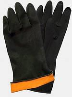 Перчатки КЩС резиновые черные