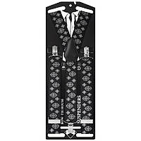 Подтяжки Bow Tie House галстучные черные с оригинальным рисунком 07488