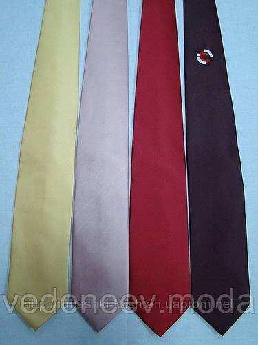 Однотонный галстук