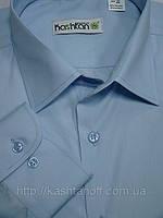 Рубашка голубая мужская классического силуэта