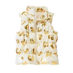 Красивая белая теплая жилетка с золотым принтом (Размер 5-6Т) Crazy8 (США)