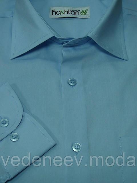 Голубая мужская рубашка классического силуэта