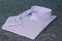 Мужская рубашка классическая Светло-сиреневая с длинным рукавом