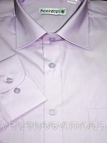 Классическая рубашка Сиреневая