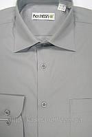 Мужская рубашка классического силуэта Светло-серая