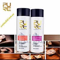 Кератин + шампунь глубокого очищения PURC Keratin Treatment 100 ml + Shampoo 100ml (набор), фото 1
