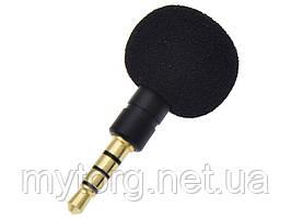 Микрофон Omni-Directional Для смартфона с разъемом 3,5 мм  Черный