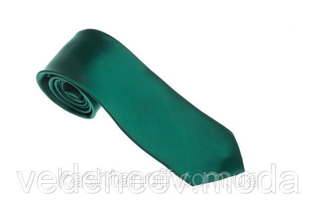Зелёный однотонный галстук