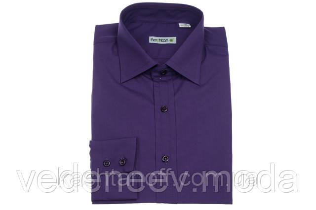 Фиолетовая приталенная рубашка