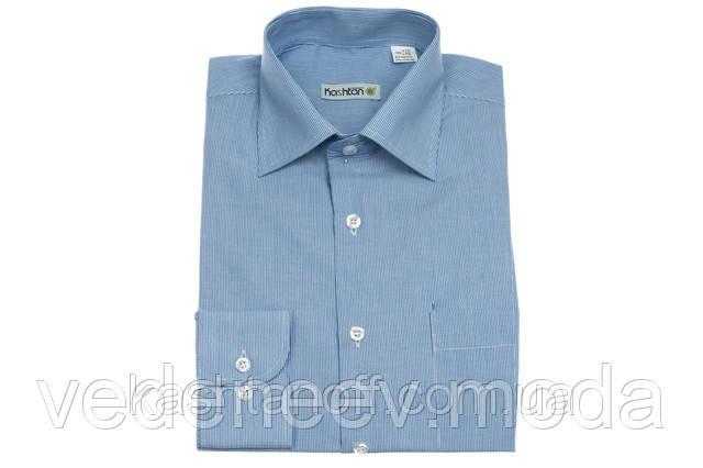 Рубашка мужская классического силуэта голубая