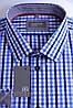 Приталенная рубашка в сине-голубую клетку, фото 2