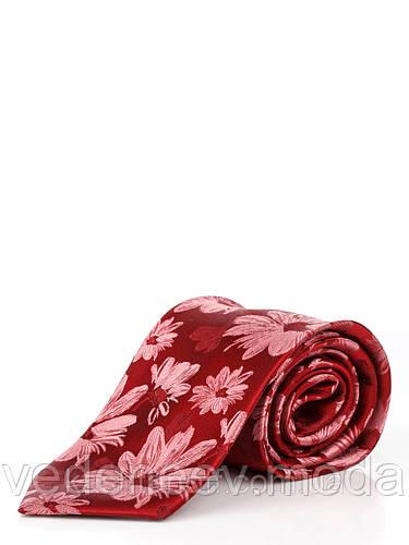 Шелковый галстук с цветочным принтом