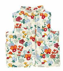 Теплая микровельветовая  жилетка в цветах (Размер 4Т) Crazy8 (США)