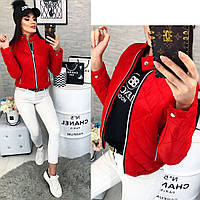 Куртка легкая женская 42-46 рр. Красная, фото 1