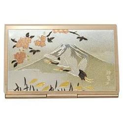 Візитниця «Журавлі на тлі гори Фуджі»