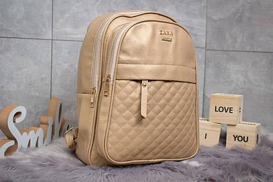 Рюкзак женские Zara, золотой (90177),  [ 1  ]