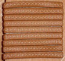 Резинка обувная кожзам зигзаг 0.6 см метражная в боббинах
