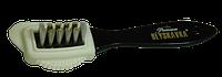 Потрійна щітка для взуття (з дерева і натурального ворсу)