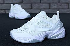 Женские кроссовки Nike M2K Tekno White/Grey. ТОП Реплика ААА класса.