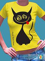 """Печать на футболках  """"Мяу"""", фото 1"""