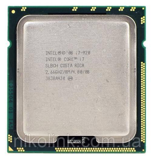 Процессор Intel Core i7-920 2.66GHz/8Mb/4.80 GT/s (BX80601920) s1366 tray, комиссионный товар