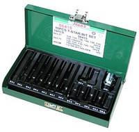 Набор бит TORX (30/75 мм), Т20-Т55. 15 предметов. (06415)