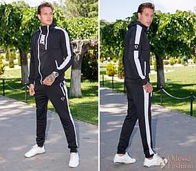 """Спортивный мужской костюм: штаны и кофта со змейками, реплика Nike, серия """"Он и она"""""""