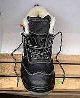 Оригинальные зимние кожаные ботинки на меху REIS BRYETI (Польша)