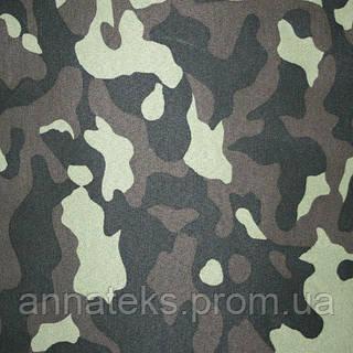Плащевая ткань 23113 Грета (Ч) камуфлированная 2701 №9015/116-СП №223 150 см ПЛ 222 г/м2