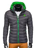 Куртка мужская демисезонная (осенне - весенняя) K363 - Темно- Серый M, Темно- Серый