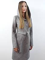 Женское пальто с капюшоном  №55